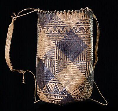 Borneo Sarawak Penan people woven shoulder basket 2 of 2