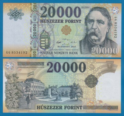 Hungary 20000 Forint P 207c   2017 UNC Low Shipping! Combine FREE! 20,000