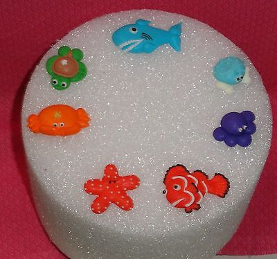 e cupcake Toppers, Royal Icing, Ocean animals,DecoPac (Ocean Cupcakes)