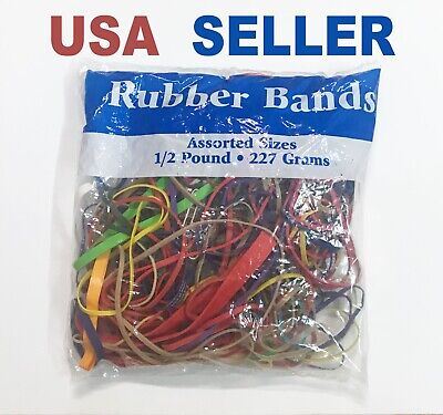 Rubber Bands Assorted Sizes And Colors 12 Pound 227 Grams