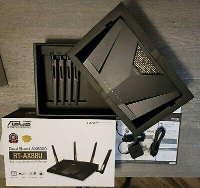 ASUS AX6000 RT-AX88U DUAL BAND GIGABYTE Wi-Fi 6 ROUTER 8 GIGABIT LAN PORTS