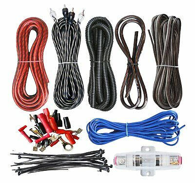8 Gauge Amplfier Power Kit for Amp Install Wiring IMC702RE RCA Cable Red 1500W