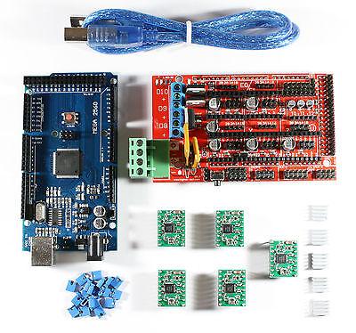 Ramps 1.4 Setkit For Reprap 3d Printer - Mega 2560 5x A4988 Usb Cable Arduino
