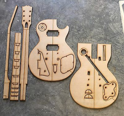 Guitar Building Templates 1958 and 1959 Les Paul Standard Luthier Template
