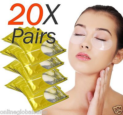 20X Pairs Anti-Wrinkle Dark Circle, Collagen Under Eye Patches Pad Mask Bag Gel
