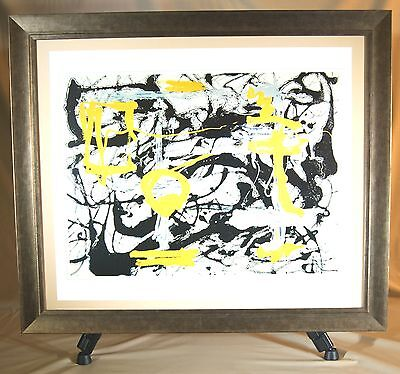 Jackson Pollock - Number 12a, 1948 - Genuine Lithographic Print (Framed)