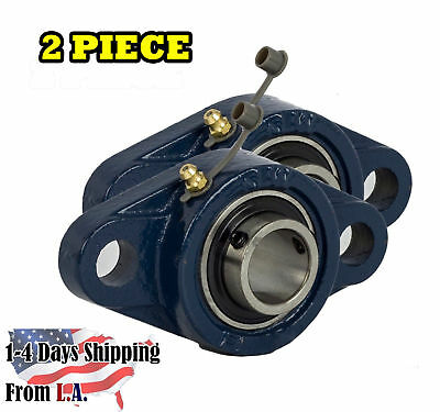 Ucfl204-12 Pillow Block Flange Bearing 34 Bore 2 Bolt Solid Base 2pcs