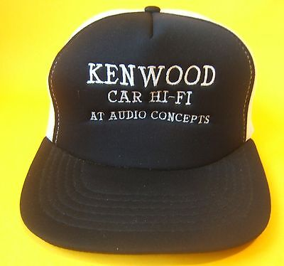 Vintage Black Kenwood Snapback Trucker Hat Car Hi-Fi at Audio Concepts Cap Cap Car Audio