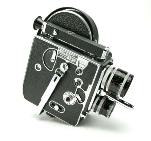 Vintage Bolex Paillard H-16 Supreme 16mm Camera 1954 With 3 Switar Lenses. Works