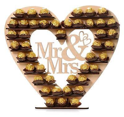 Hochzeit Ferrero Rocher Ständer Mittelstück Display Mr & Mrs Herz Baum ()