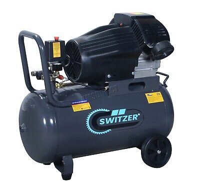 Switzer Mobile Air Compressor - 50 Litre 3hp 13CFM 230V Twin Cylinder AC006