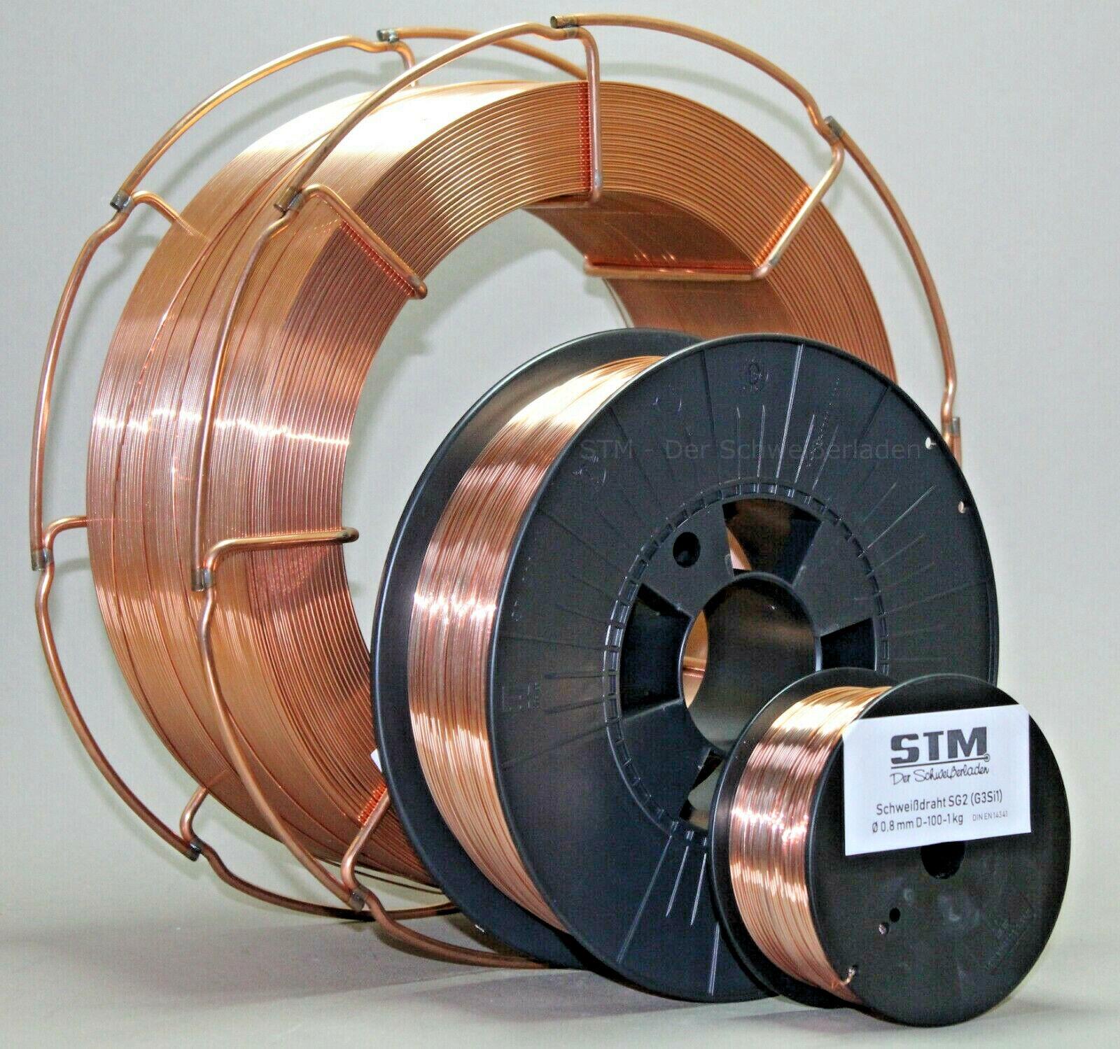 Schutzgas Schweißdraht Stahldraht SG2 0,8mm CO2 G3Si1 MIG/MAG 0,5-15kg D100-K300