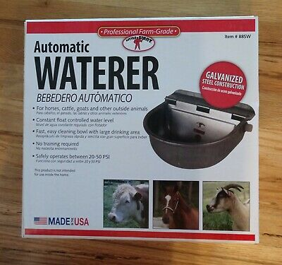 Little Giant Automatic Waterer For Horses Cattle Goats In Galvanized Finish