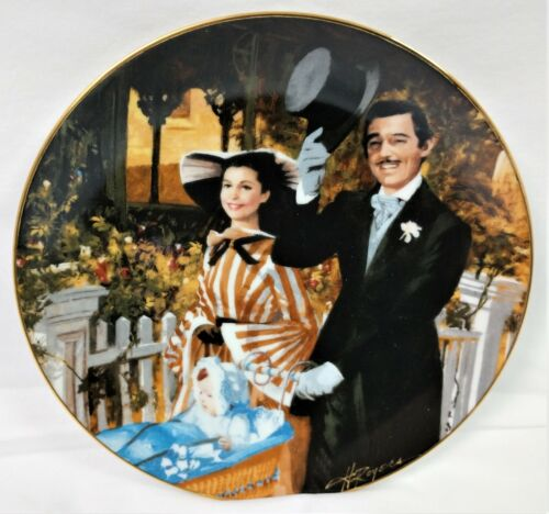 """Gone With The Wind 1989 50th Ann Collector Plate #6 -""""Strolling In Atlanta"""" NIB"""
