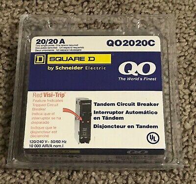 New Square D Schneider Qo 20-amp 1-pole Tandem Circuit Breaker Qo2020c