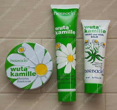 Germany Herbacin wuta kamile hand (& nail) assorted hand cream balm 3pc set