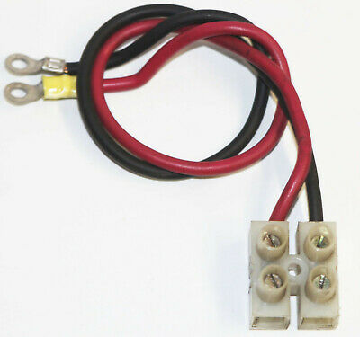 Vintage 4 Wire Screw Terminal Junction Block W Cables - Motorola Power Supply