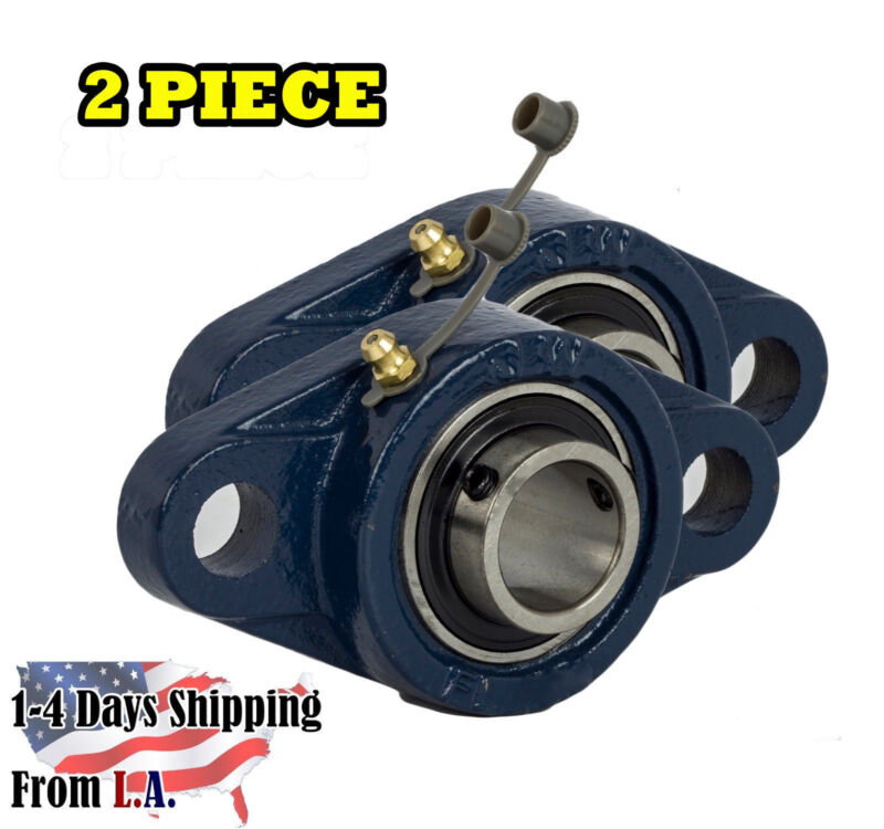"UCFL205-16 Pillow Block Flange Bearing 1"" Bore 2 Bolt Solid Base (2PCS)"