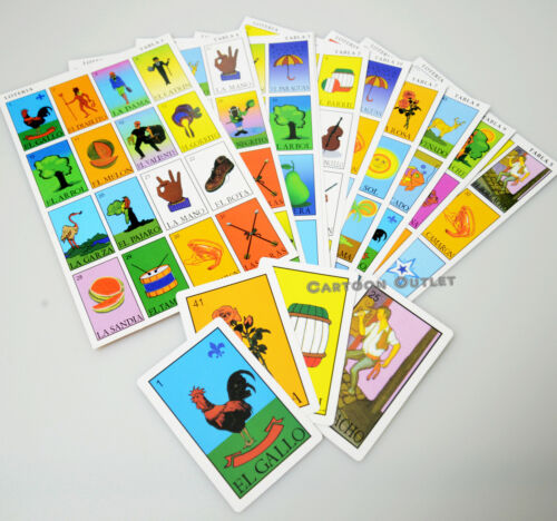 LOTERIA MEXICANA MEXICAN BINGO GAME 10 PLAYING BOARDS 54 PLAYING CARDS SPANISH