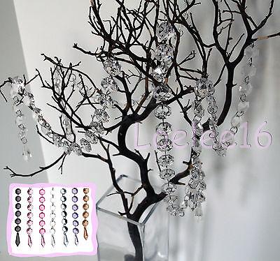 Acrylic Crystal Garland Diamond Hanging Bead Chains Wedding Decor 3 15 19 30 ft