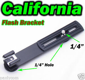 Camera-Flash-Bracket-Hot-Cold-Shoe-Flashgun-1-4-Screw-Hole-DC-Arms-Mount-Tripod