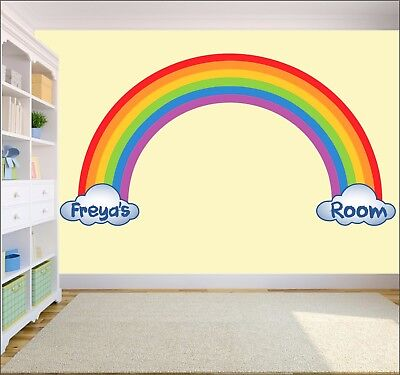 bogen Wandkunst Aufkleber Kinder Schlafzimmer Kinderzimmer (Regenbogen-wand-kunst)