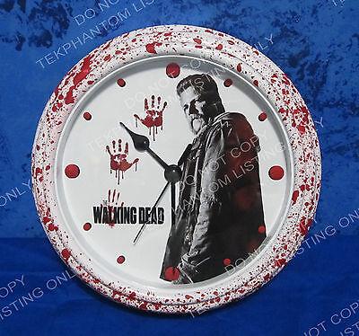 THE WALKING DEAD Custom Bloody Wall Clock Abraham Ford Michael Season 7 OOAK New