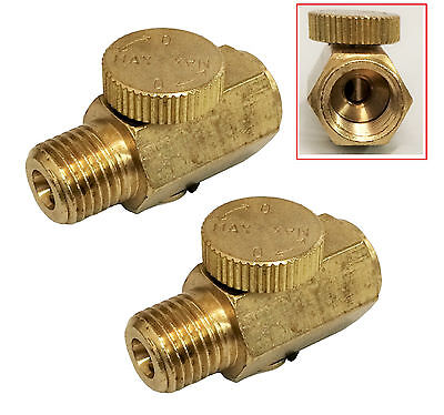 2 Pc 14 Npt Inline Regulator Solid Brass Compressed Air Pressure Valve Tool