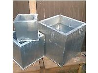 stainless steel plant pots various sizes