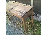 chilldrens vintage school desks