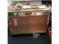 3 Shop glass display and sales counters