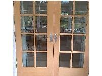White oak doors