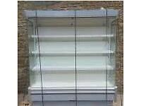 Multideck counter stainless steel finish