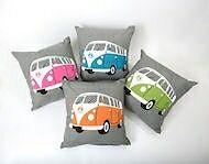4 vw campervan cushions & 4 vw mugs