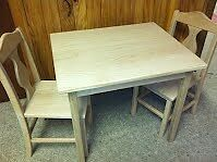 Children's table and chair set - wooden. Custom made for you! Kitchener / Waterloo Kitchener Area image 2