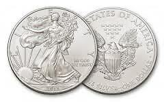 1oz .999 Pure Silver American Eagle Bullion 1$ Coins