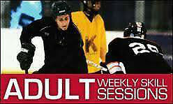 Coed adult ice hockey skills sessions