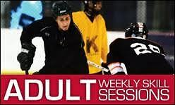 Adult ice hockey skills sessions-recreational/intermediate level