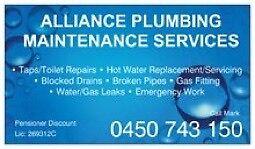 Alliance Plumbing Maintenance Services Sans Souci Rockdale Area Preview