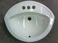 Porcelain Drop-In Sink | Crane Coronet Replacement |