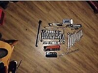 tool joblot 105 items spanners sockets wrench ect usable condition car garage