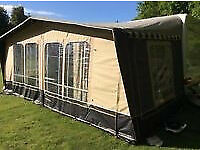 brand new Harrington caravan awning - size 800. Complete with carbon poles £150.00 ono