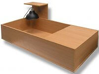 Tortoise table, brand new, boxed, with house and glass side, easy clean