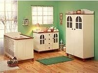 Kidsmill Nursery Furniture Set: Cotbed, Baby Changer and Wardrobe