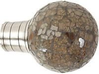 Museum Galleria 35mm Brushed Silver Clear Mocha Mozaic Ball Finial (1 pack of 1) - new and unused