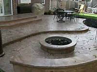 STAMPED EXPOSED AND PLAIN  CONCRETE FINSHES