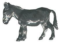 4 wholesale lead free pewter donkey figurines F6027