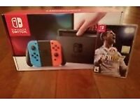 Nintendo Switch Neon with Fifa 18. Brand new
