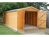 £2,030.00 NEW QUALITY TONGUE & GROVE PINE 24ft X 12ft WOODEN GARAGE
