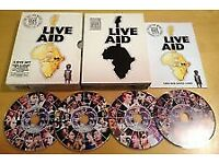 LIVE AID 4 DVD BOX SET ( mint condition)